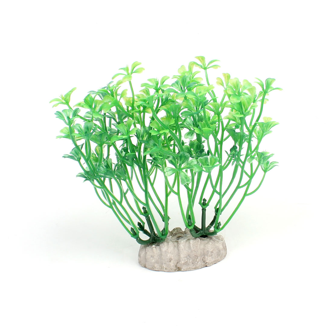 "5.1"" Height Green Underwater Aquatic Plastic Plant Grass for Fish Tank"