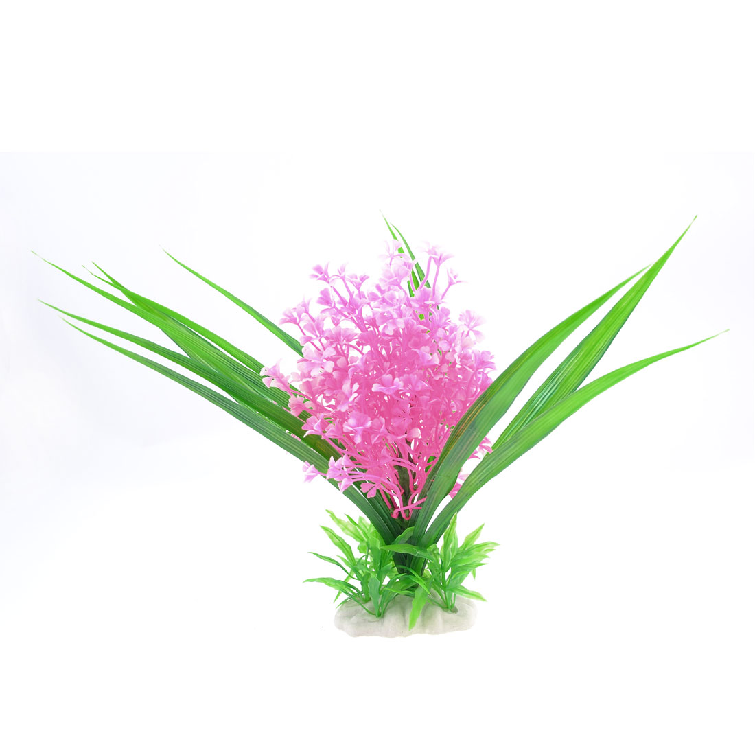 "Pink Green Aquarium Simulation Plastic Aquatic Plant Ornament 11"" High"