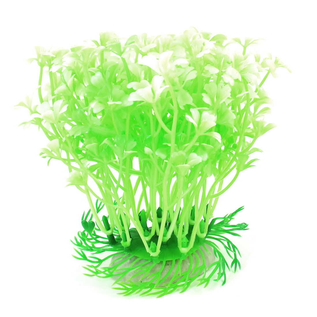 "4.5"" Height Emulatinal Plastic Underwater Plant Grass Pale Green for Fish Tank"