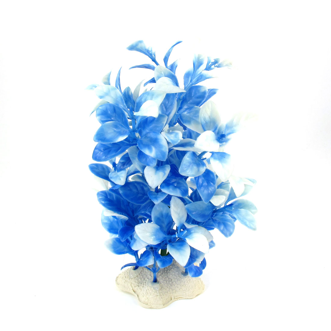 "7.3"" Height Ceramic Base Blue Manmade Underwater Plant Grass for Aquarium"