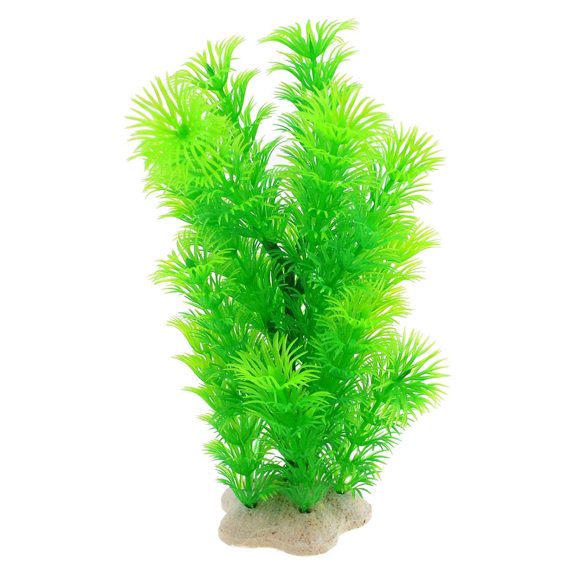Green Aquarium Fishbowl Ornament Ceramic Base Underwater Plant