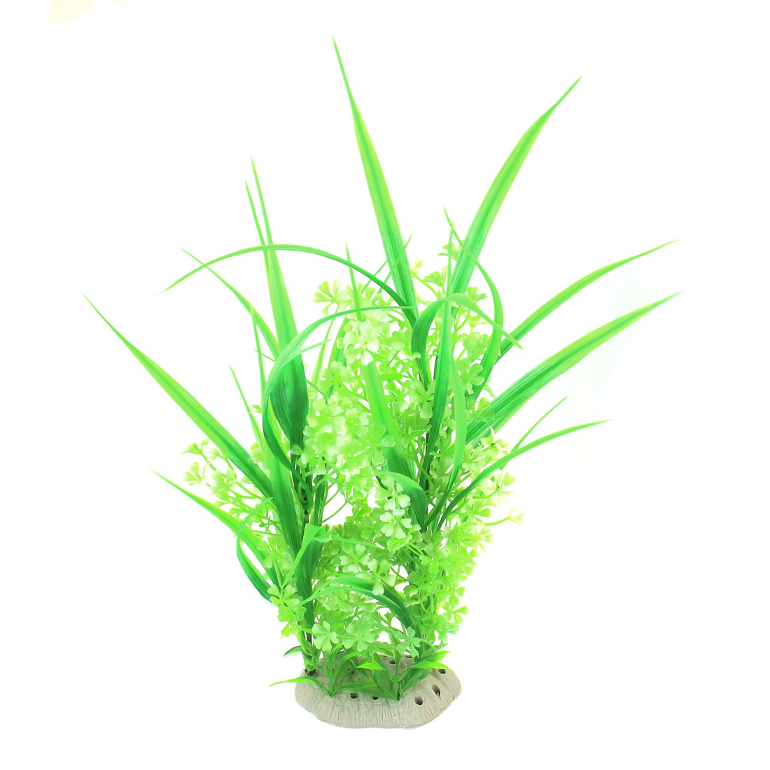 39cm High Ceramic Base Emulational Pale Green Underwater Grass for Aquarium