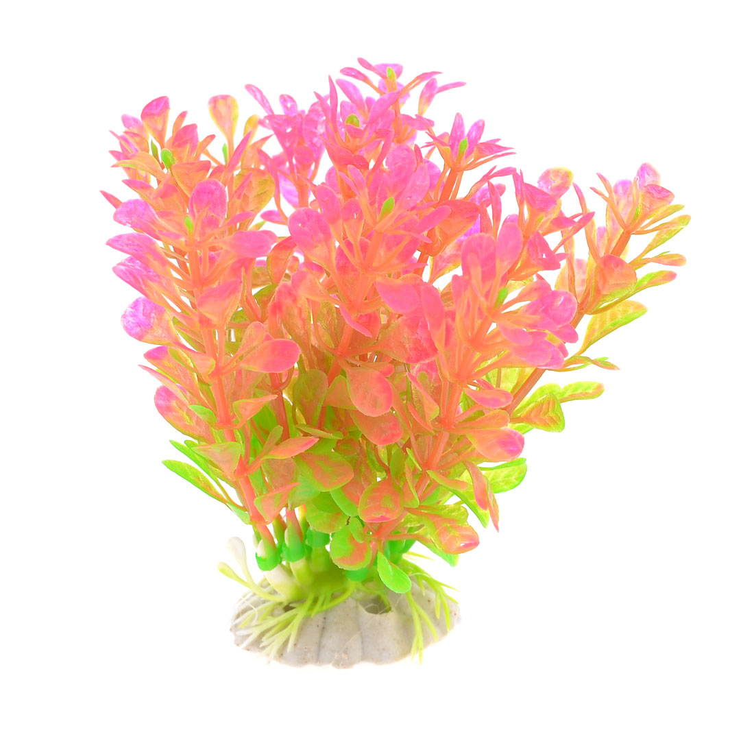 Green Pink Aquarium Fish Tank Aquascaping Plastic Plant Grass Ornament
