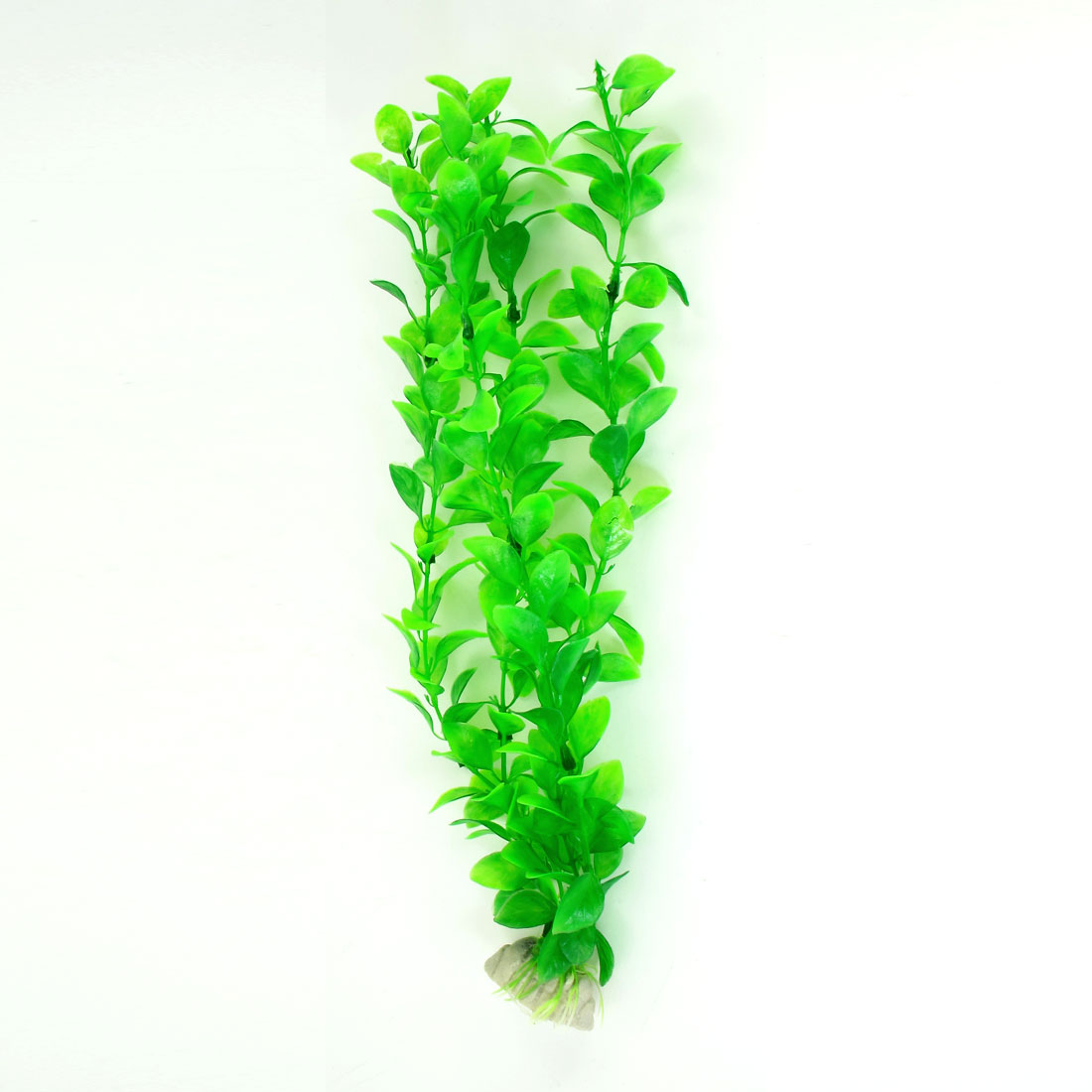 "13"" High Ceramic Base Manmade Plastic Green Underwater Plant Grass for Fish Tank"