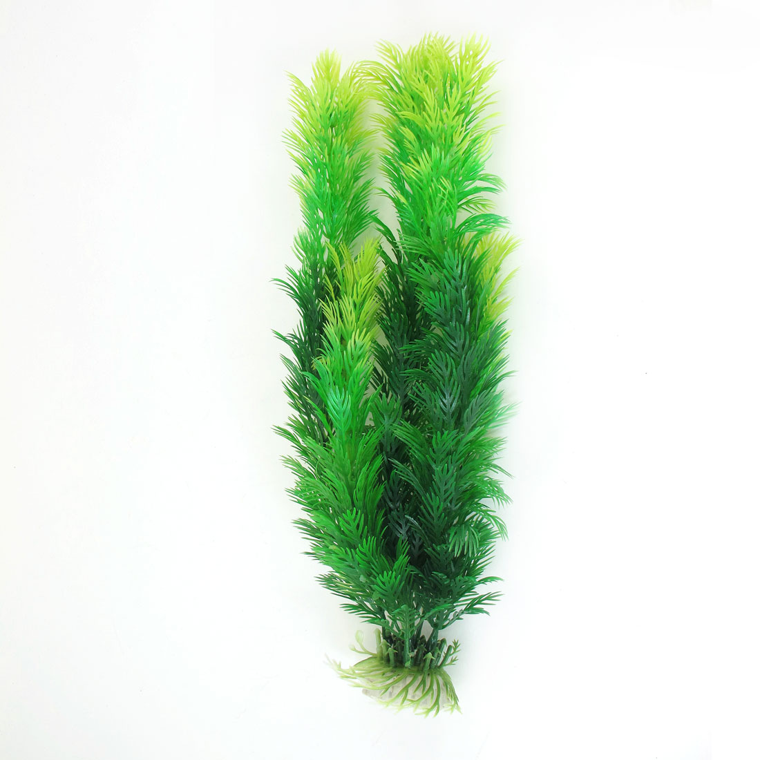 "Fishbowl Aquarium Ceramic Base Emulational Water Plant Grass Green 11.8"" Height"