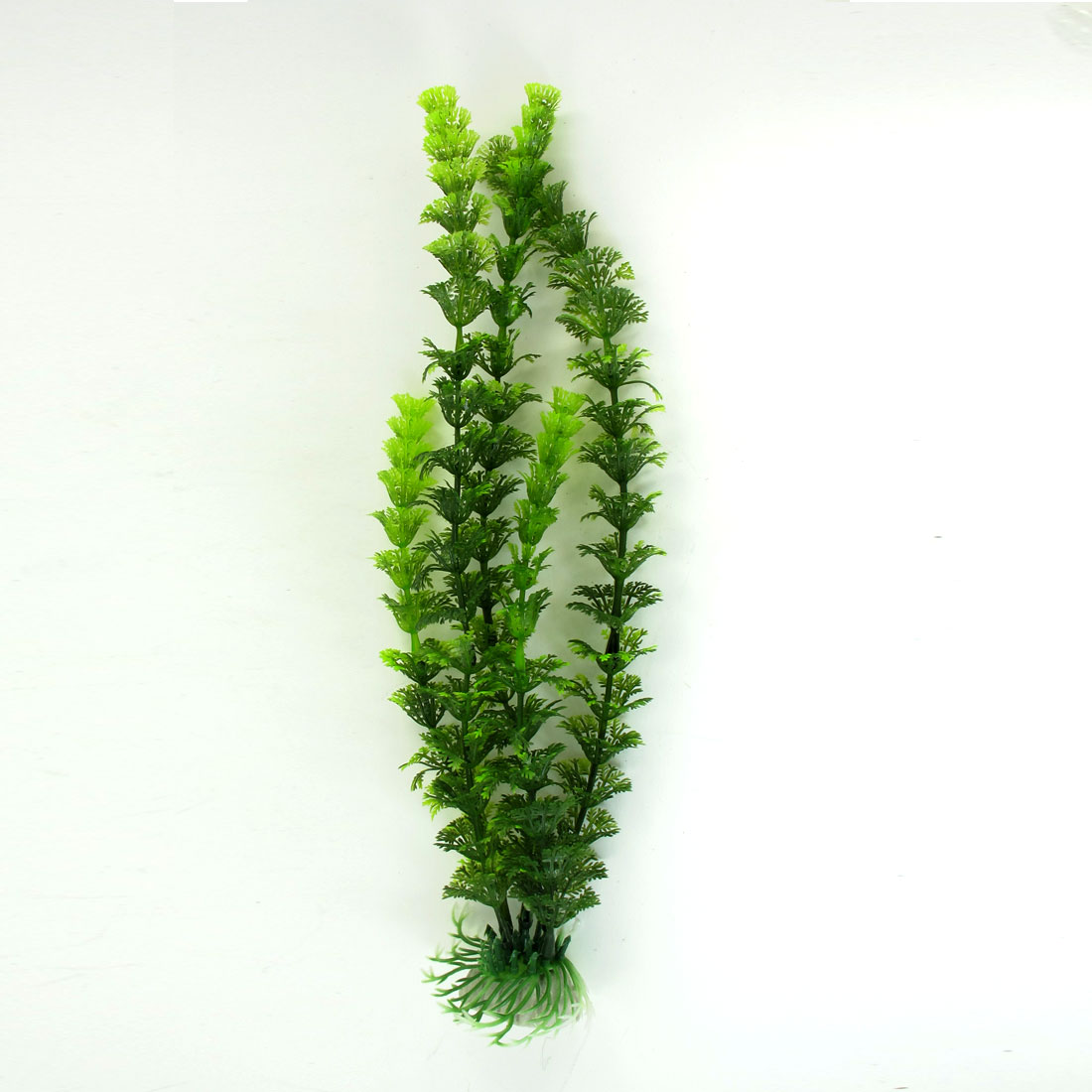 31cm High Ceramic Base Manmade Plastic Green Water Plant Grass for Aquarium Tank