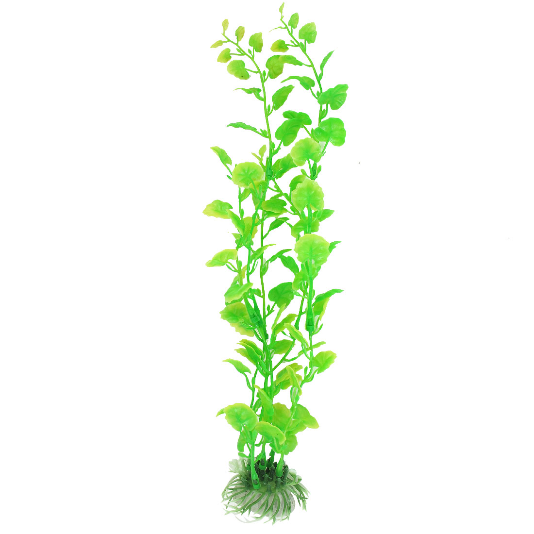 "13"" Height Green Yellow Plastic Plant Water Grass for Fish Tank Aquarium"