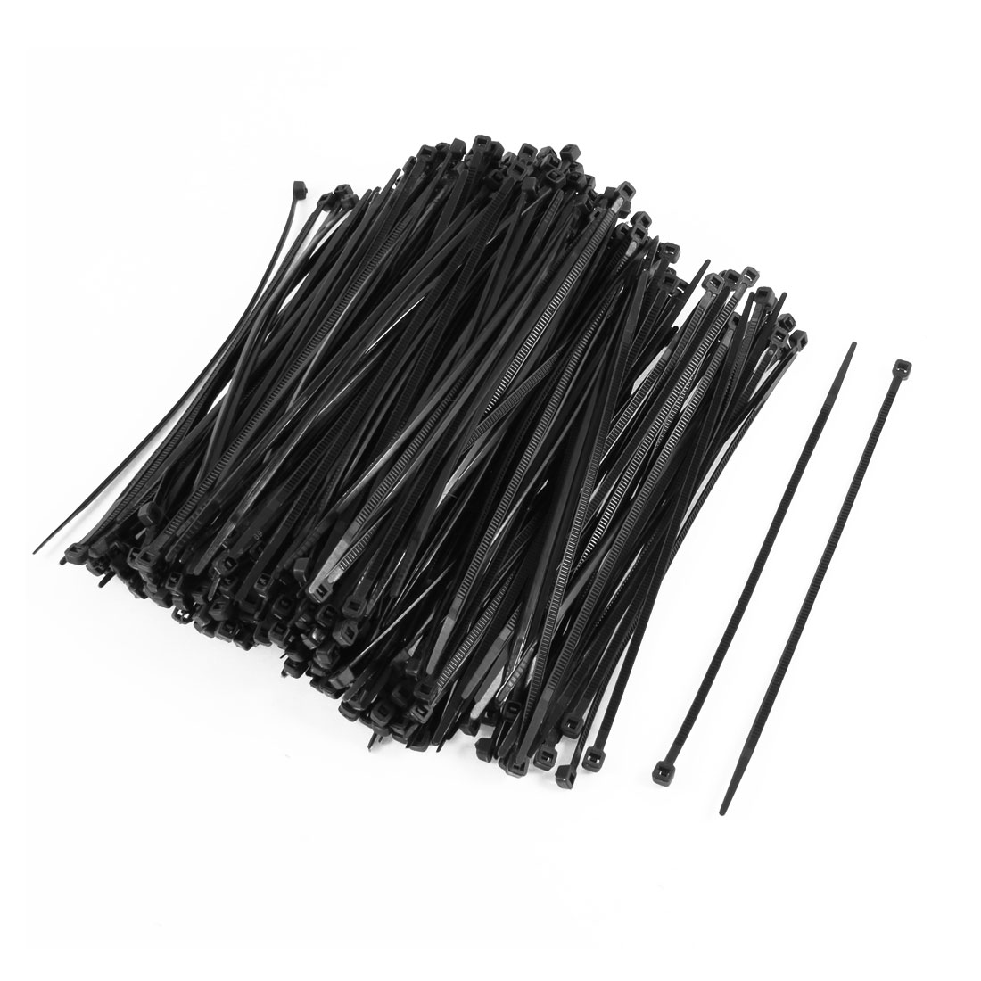 350PCS Plastic Self Locking Packaging Cable Zip Ties Fastener 4mmx150mm
