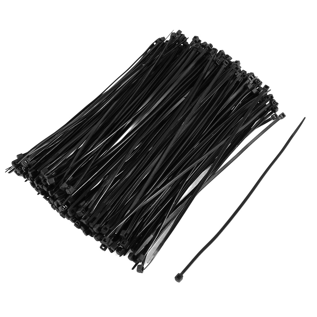 350 Pcs 2.5mmx200mm Plastic Power Cable Wire Cord Zip Ties Straps Black