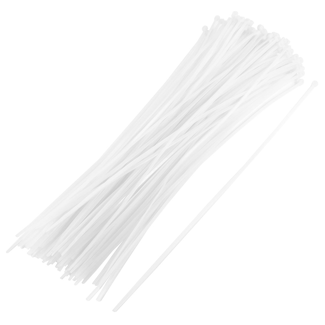 175 Pcs Self Locking Plastic Cable Wire Zip Tie Fasten Wrap 5mmx400mm