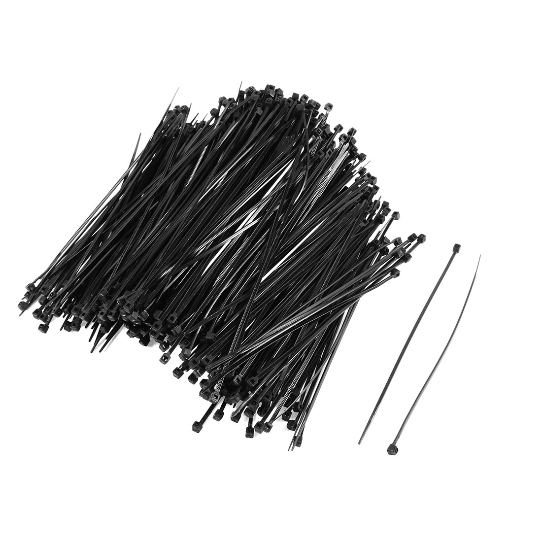 350PCS Black Self Locking Plastic Cable Wire Zip Tie Fasten Wrap 3mmx150mm