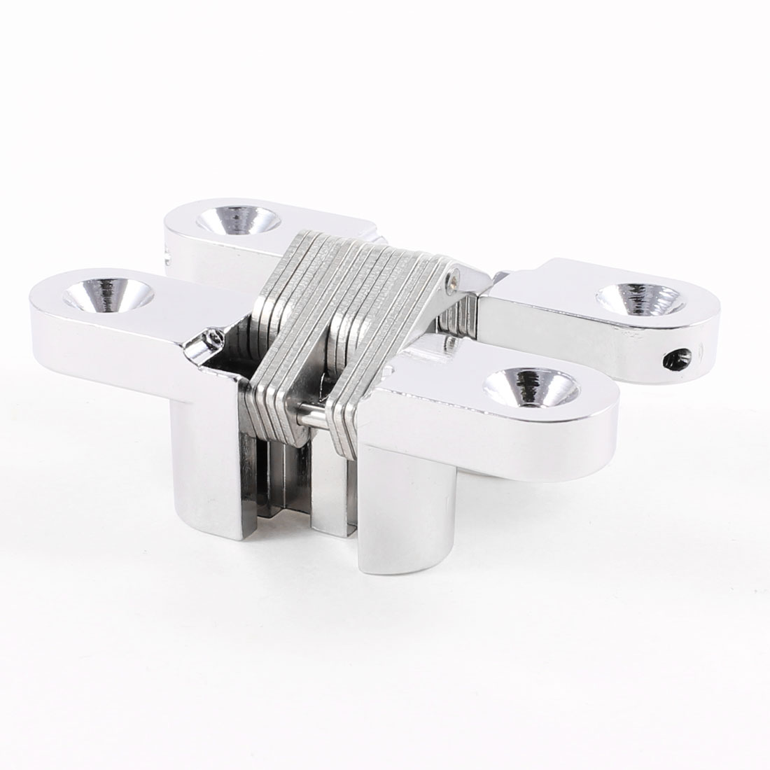 70mm Length Silver Tone Metal Cross Hinge for Folded Door Cabinet