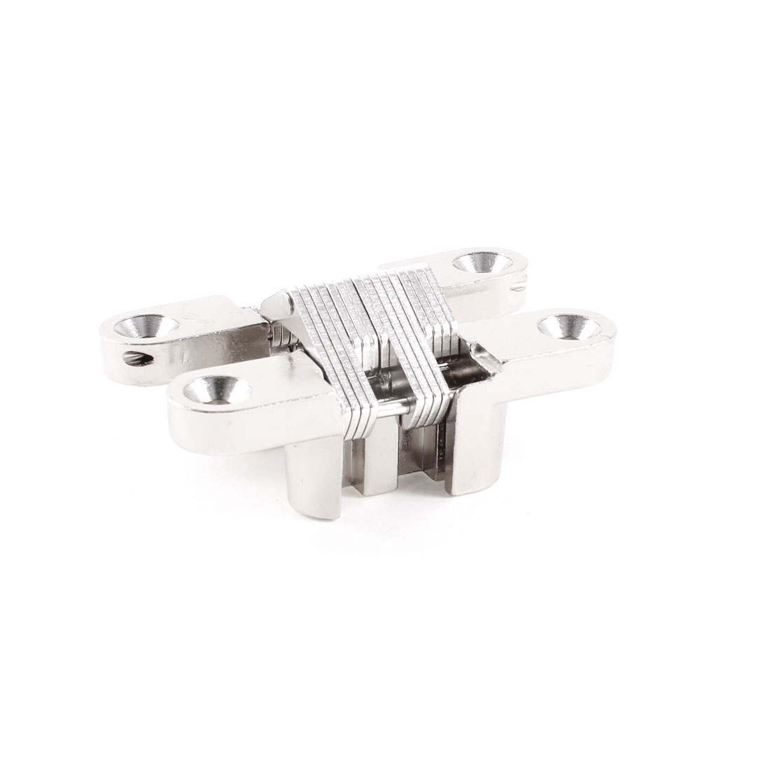 180 Degree Turning Concealed Cross Hinge 60mm Long for Furniture Door