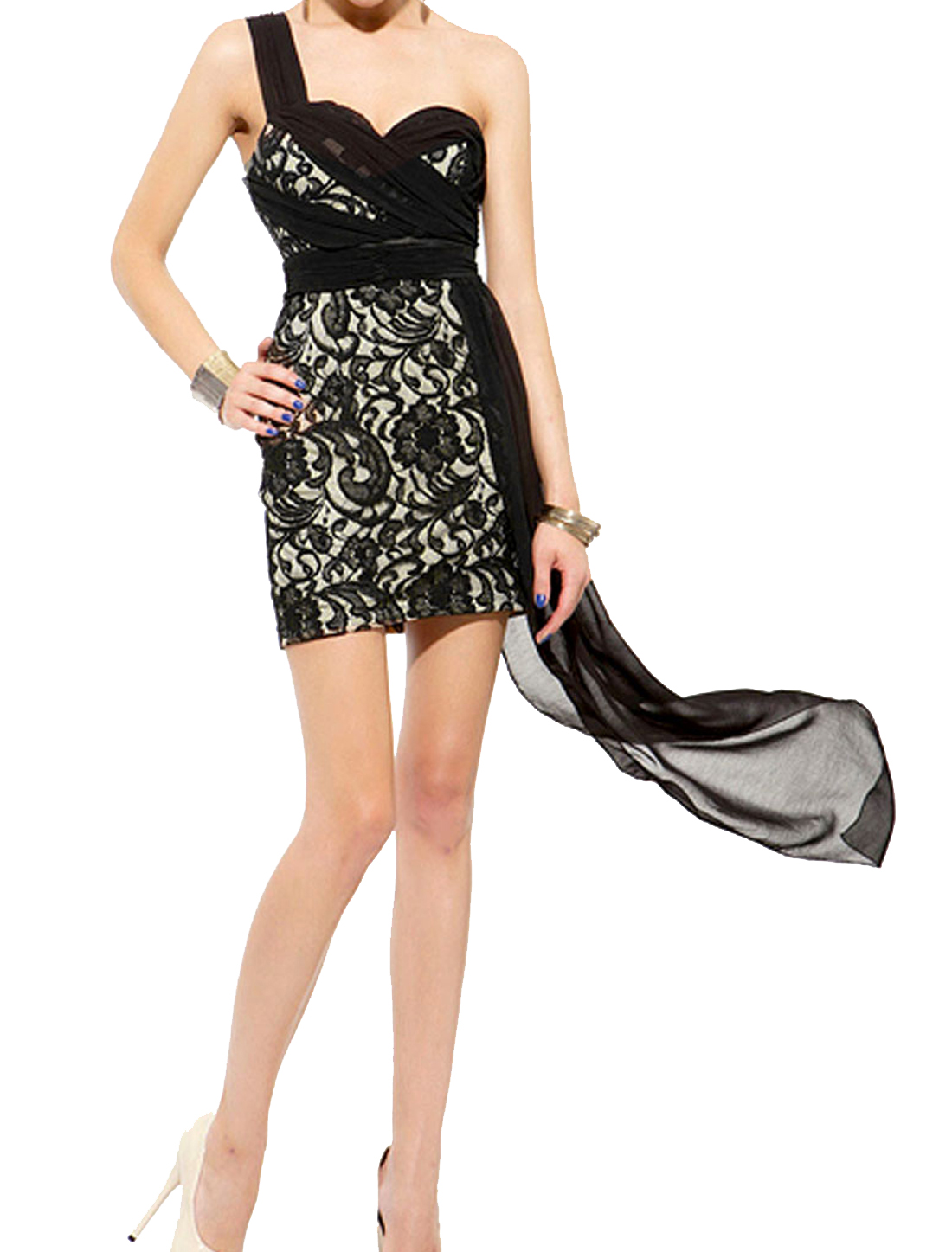 Ladies Leisure Sheevesless Sheath Wasit Padded Bust Mini Dress Black XS