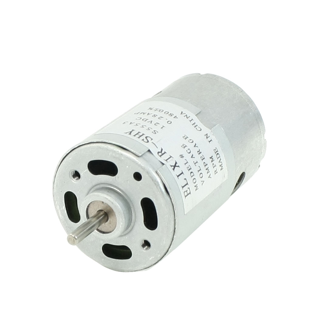 DC 12V 4800RPM 3mmx13mm Dia Shaft 2P Gear Motor Replacement Parts