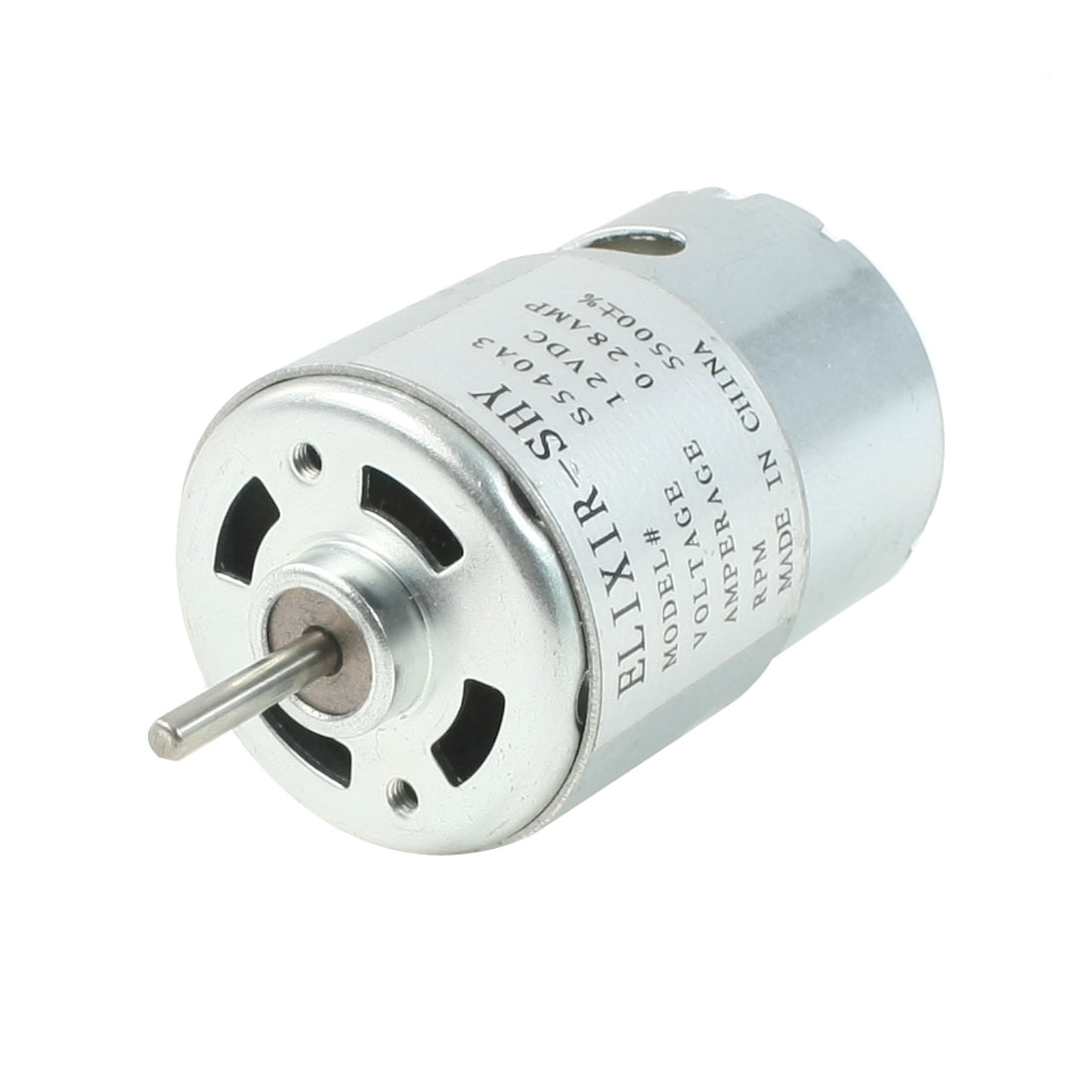 DC 12V 0.28A 5500RPM High Torque Cylinder Electric DC Motor