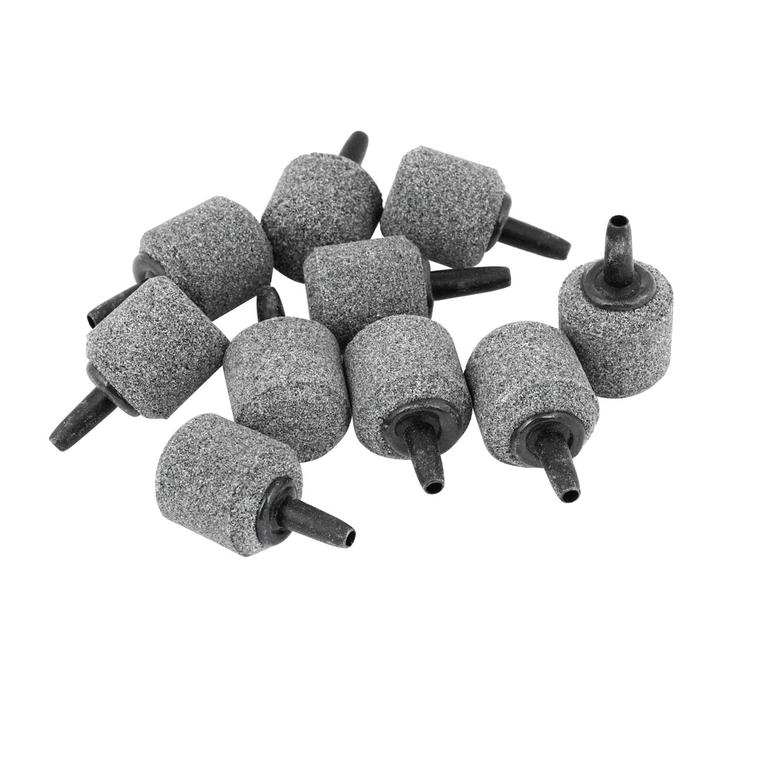 10 Pcs Gray 21mm x 22mm Cylinder Mini Bubble Air Stone for Aquarium