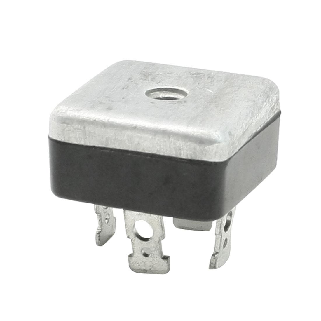 25A Silver Tone Aluminum Case Single Phase Bridge Rectifier