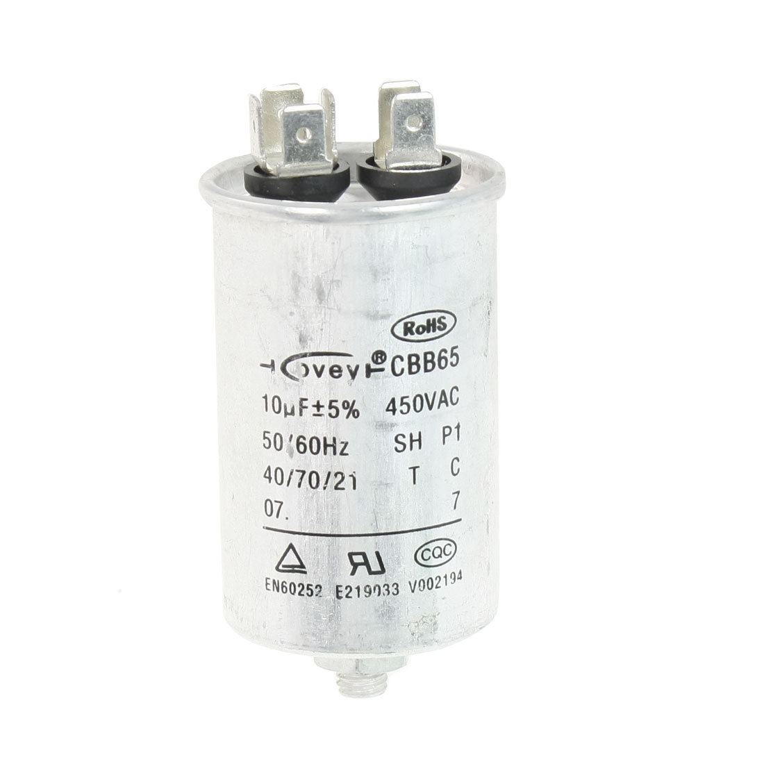 Air Conditioner AC 450V 10uF Cylindrical Motor Capacitor CBB65