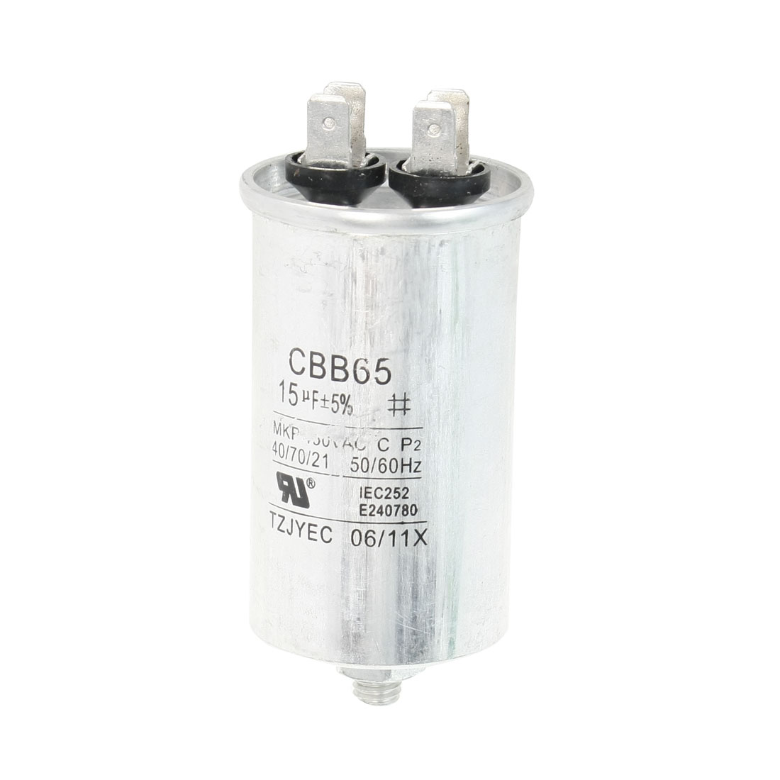 Air Conditioner AC 450V 15uF Cylindrical Motor Capacitor CBB65