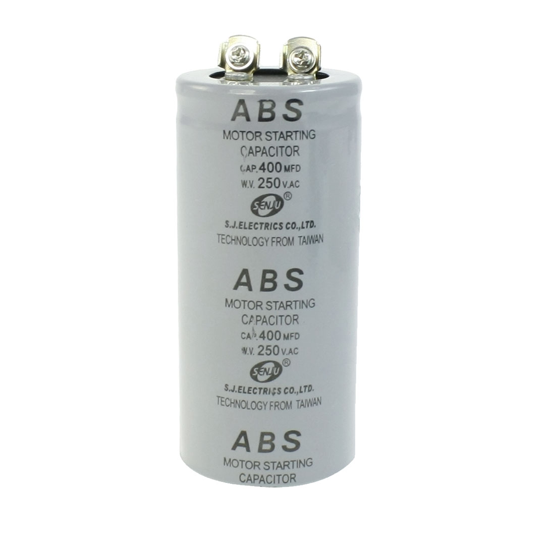 ABS 400MFD 400uF 250V Cylindrical AC Motor Starting Capacitor