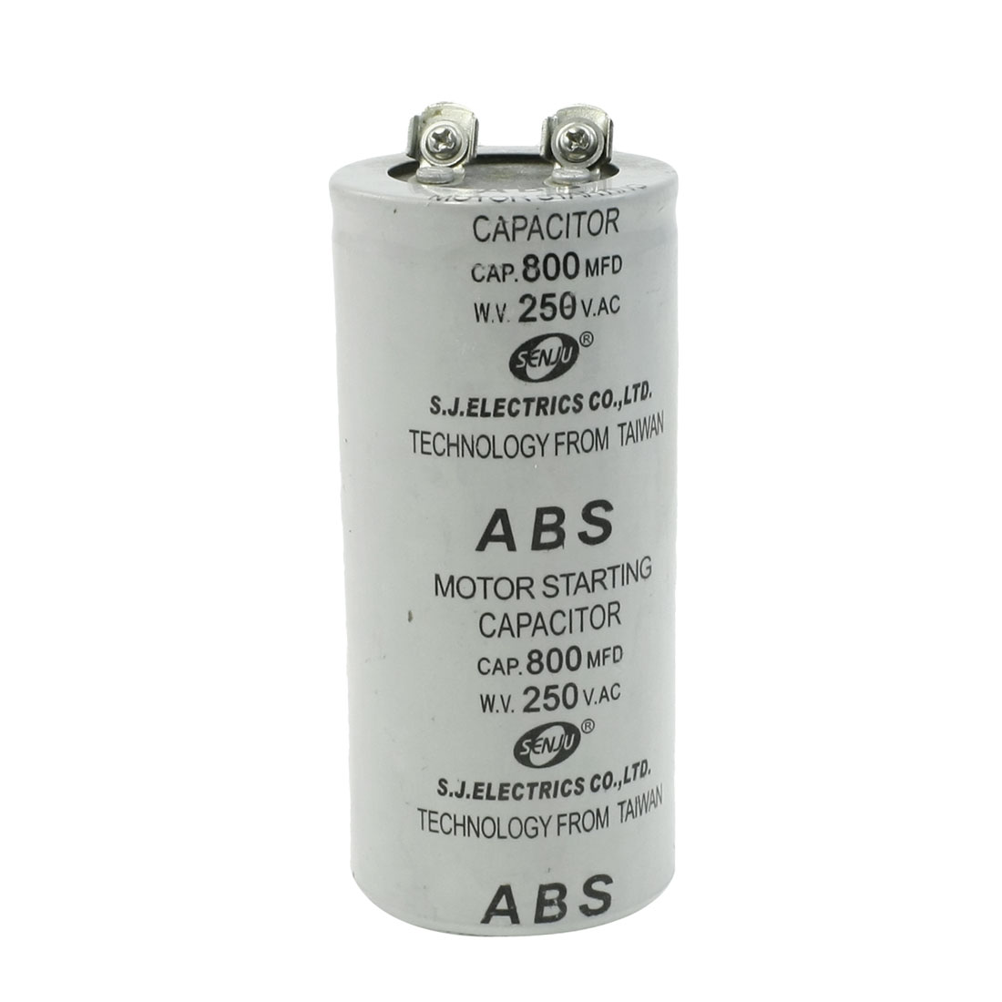 ABS 800MFD 800uF 250V Cylindrical AC Motor Starting Capacitor