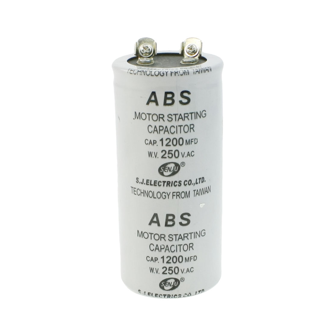 ABS 1200MFD 1200uF 250V Cylindrical AC Motor Starting Capacitor