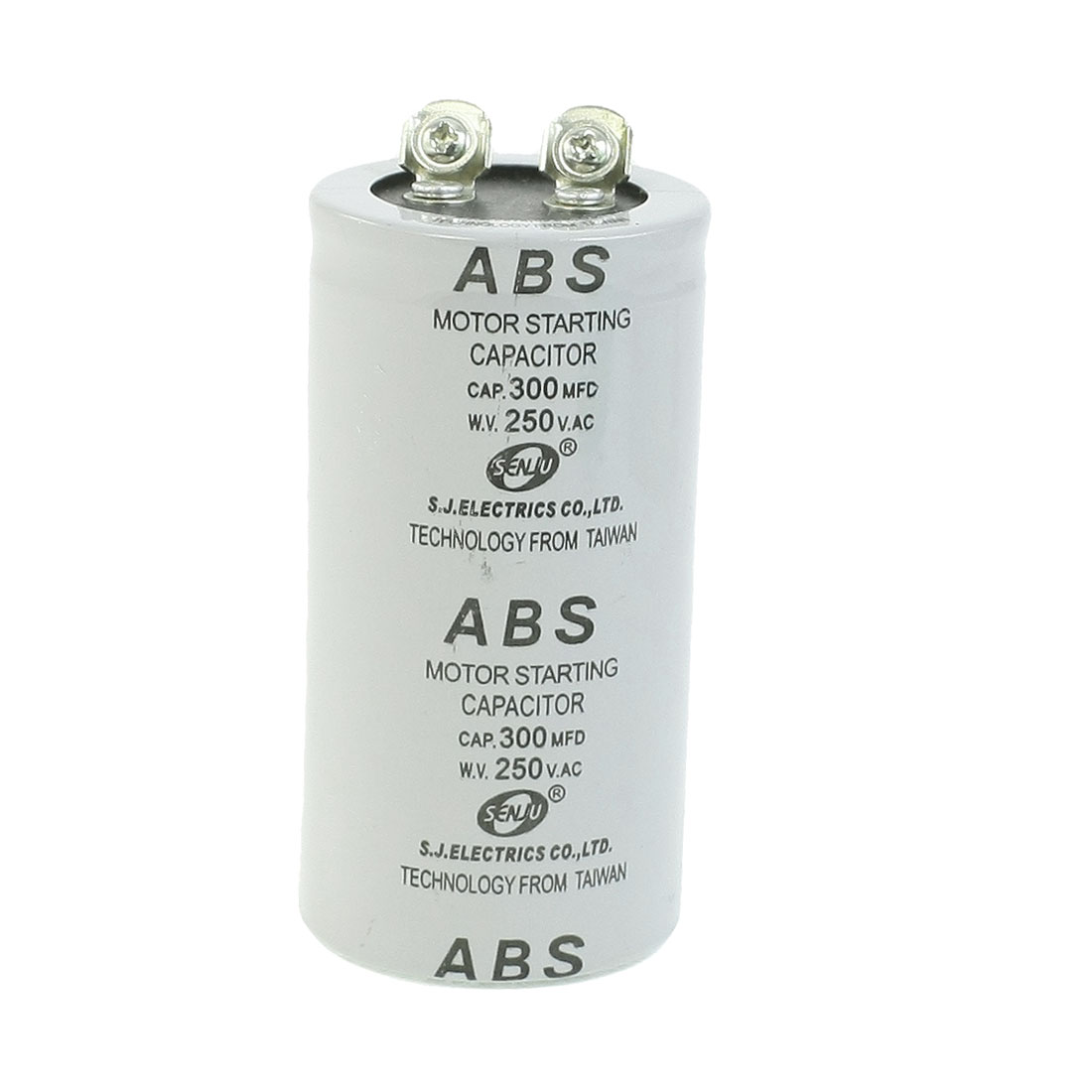 ABS 300MFD 300uF 250V Cylindrical AC Motor Starting Capacitor