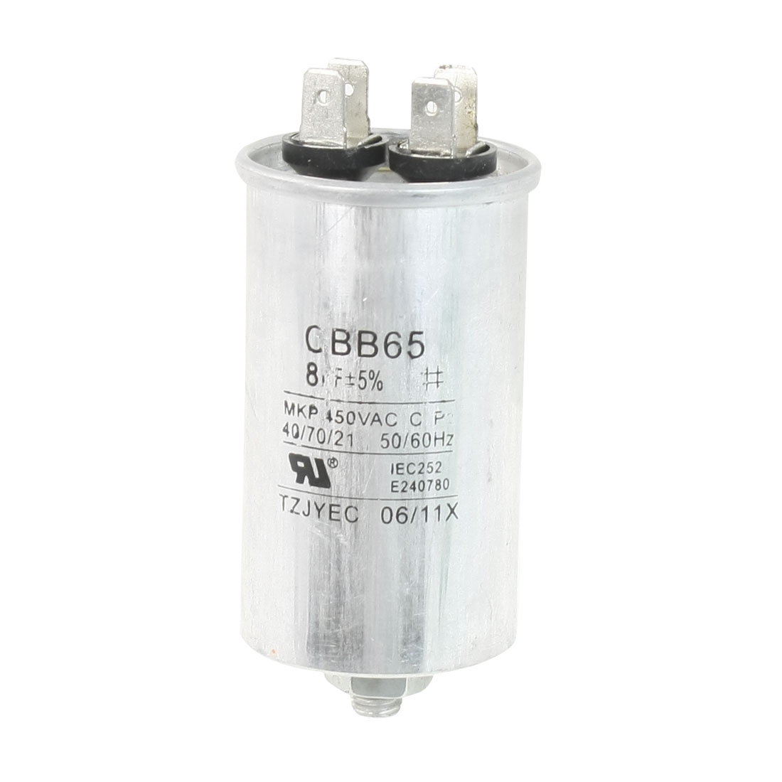 Air Conditioner AC 450V 8uF Cylindrical Motor Capacitor CBB65