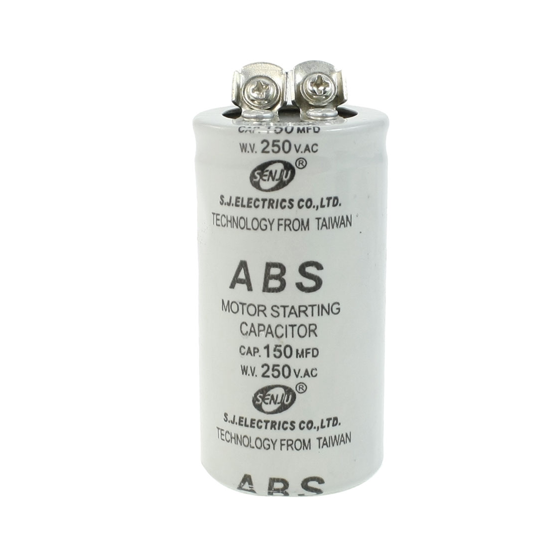 ABS 150MFD 150uF 250V Cylindrical AC Motor Starting Capacitor
