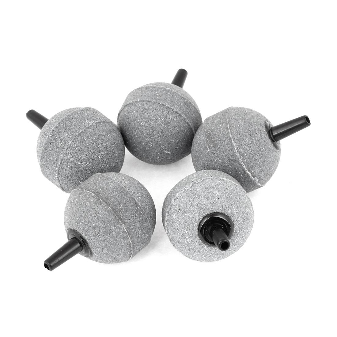 "5 Pcs Gray 1.1"" 30mm Dia Ball Shaped Bubble Air Stone for Aquarium"