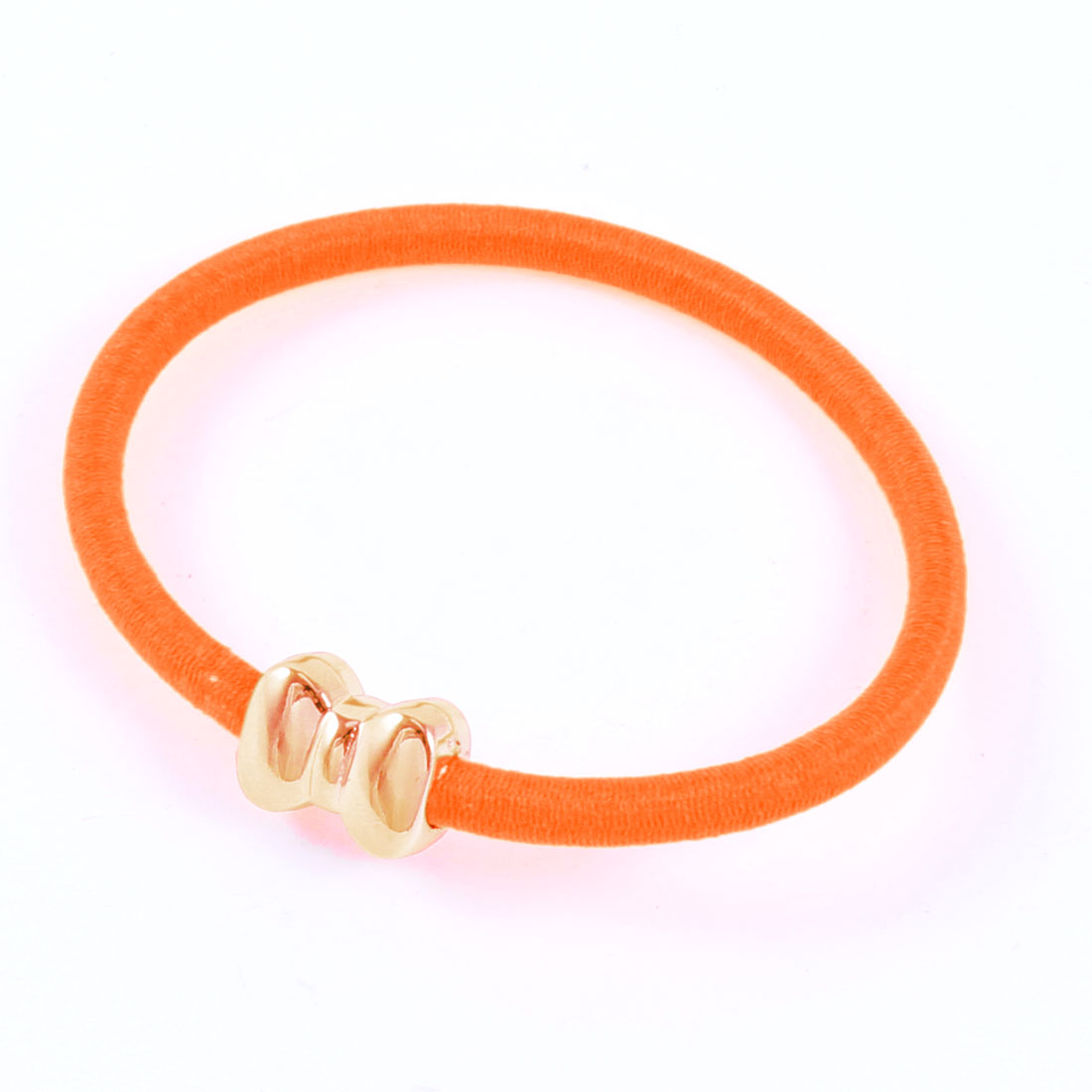 Bowknot Designed Stretchy Hair Tie Band Orange for Ladies