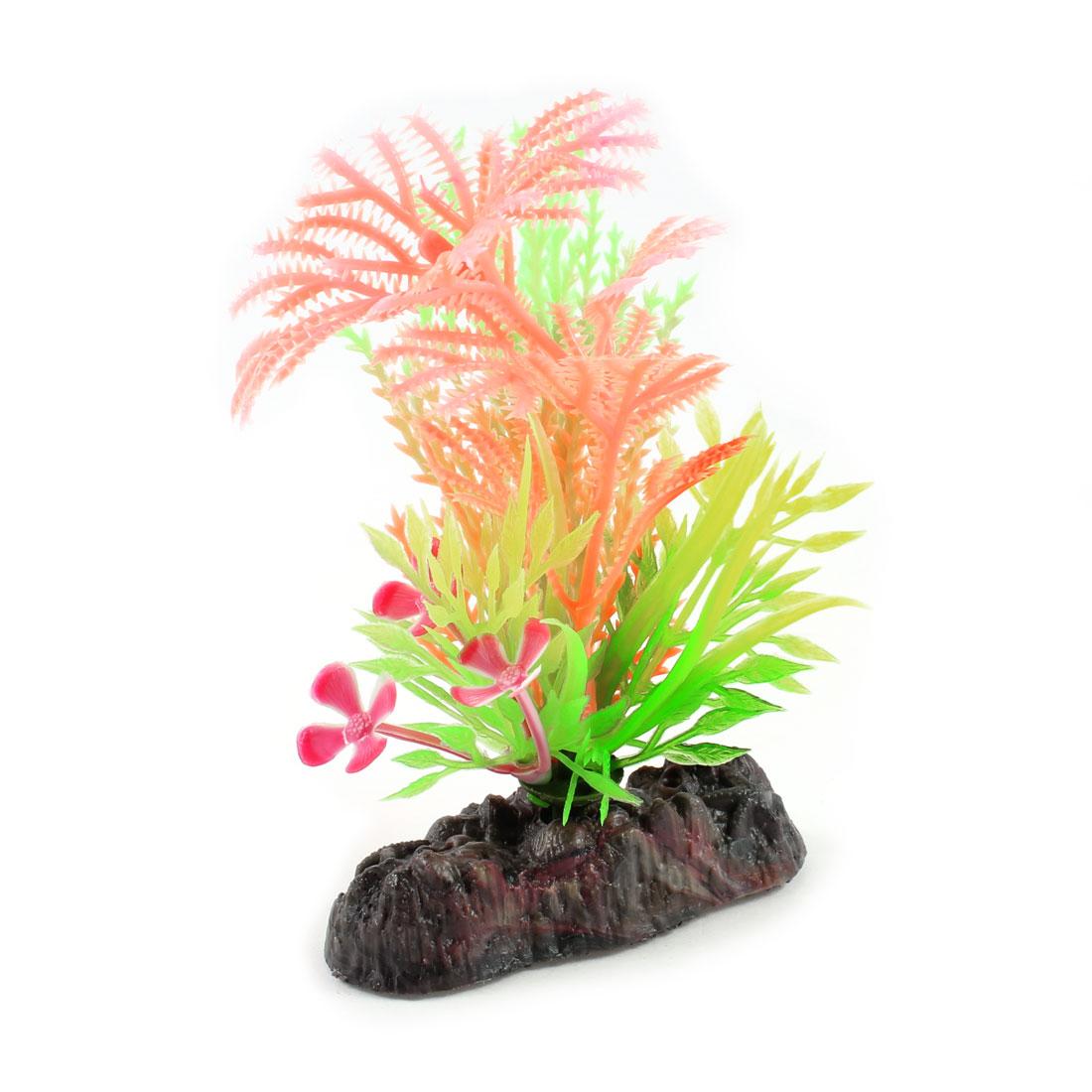 "4.1"" Aquarium Landscaping Ornament Colorful Manmade Luminous Water Plant Grass"