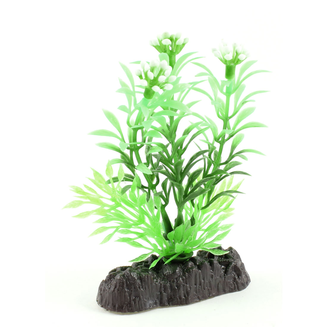 """3.9"""" High Artificial Glow Light Water Plant Grass Green White for Fish Tank"""