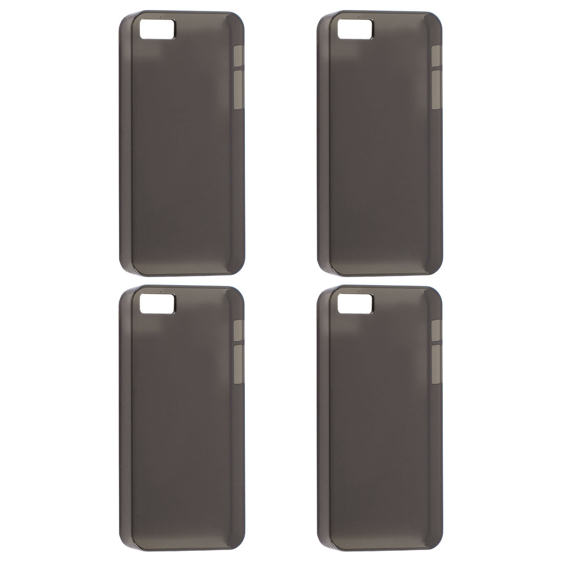 4 Pcs Black Plastic Protector Shell Back Case Cover for iPhone 5 5S 5G 5GS