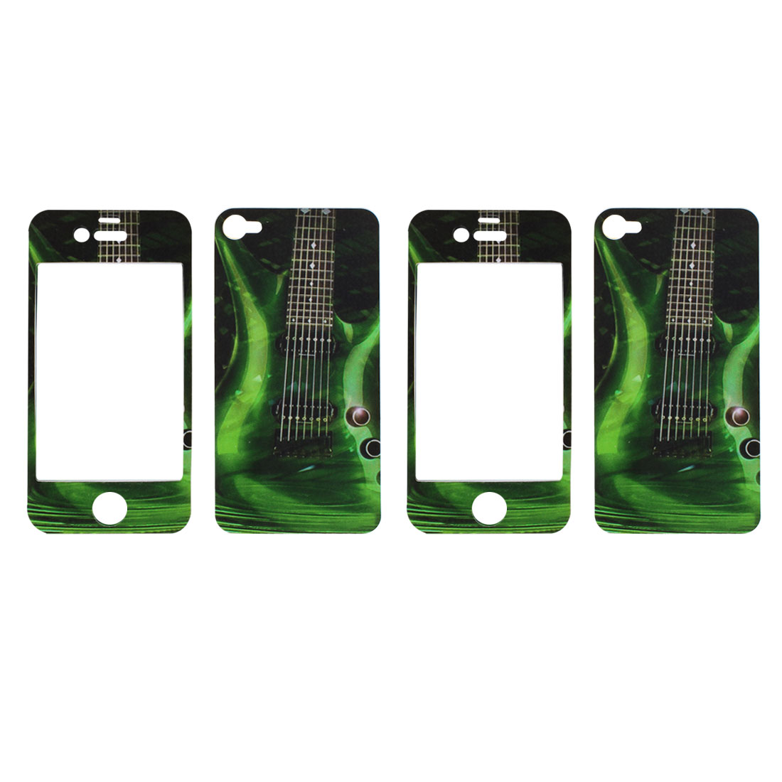 Front + Back Sticker Decal Guard Shield Protector Dark Green 2 Pcs for iPhone 4 4G 4S