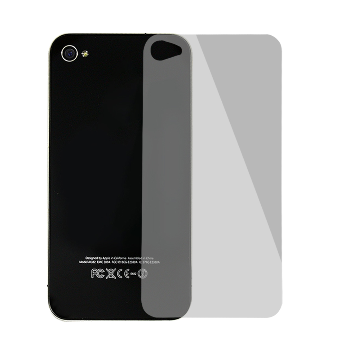 3D Hex Design Back Screen Cover Filme Guard Clear for iPhone 4 4G 4S 4GS