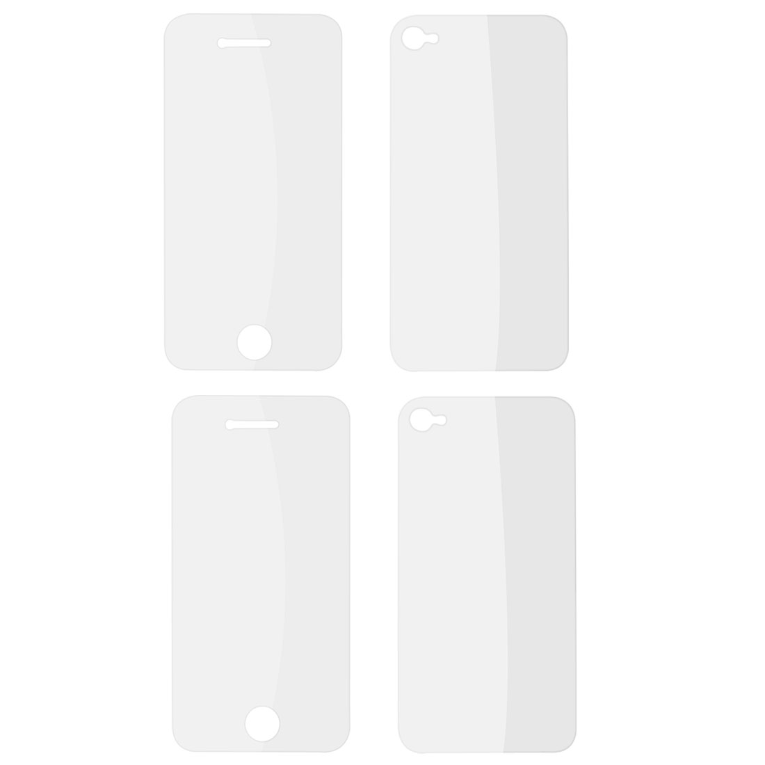 2 Pcs Anti-Glare Screen Protective Protector Film Front Back for iPhone 4 4G 4S 4GS