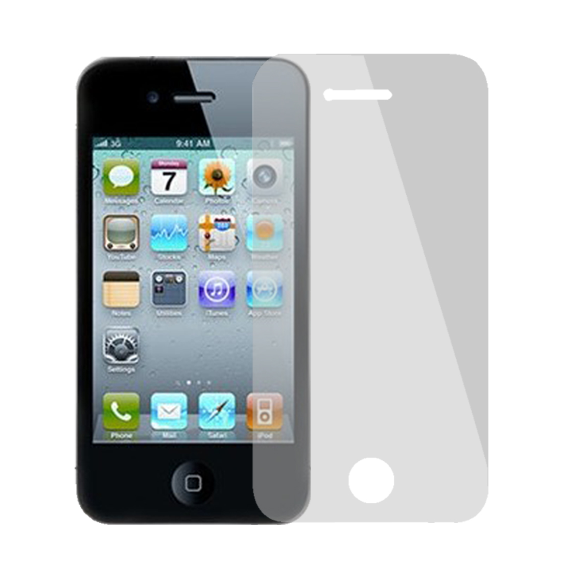 Silver Tone Mirror Front Screen Cover Filme Guard for iPhone 4 4G 4S 4GS