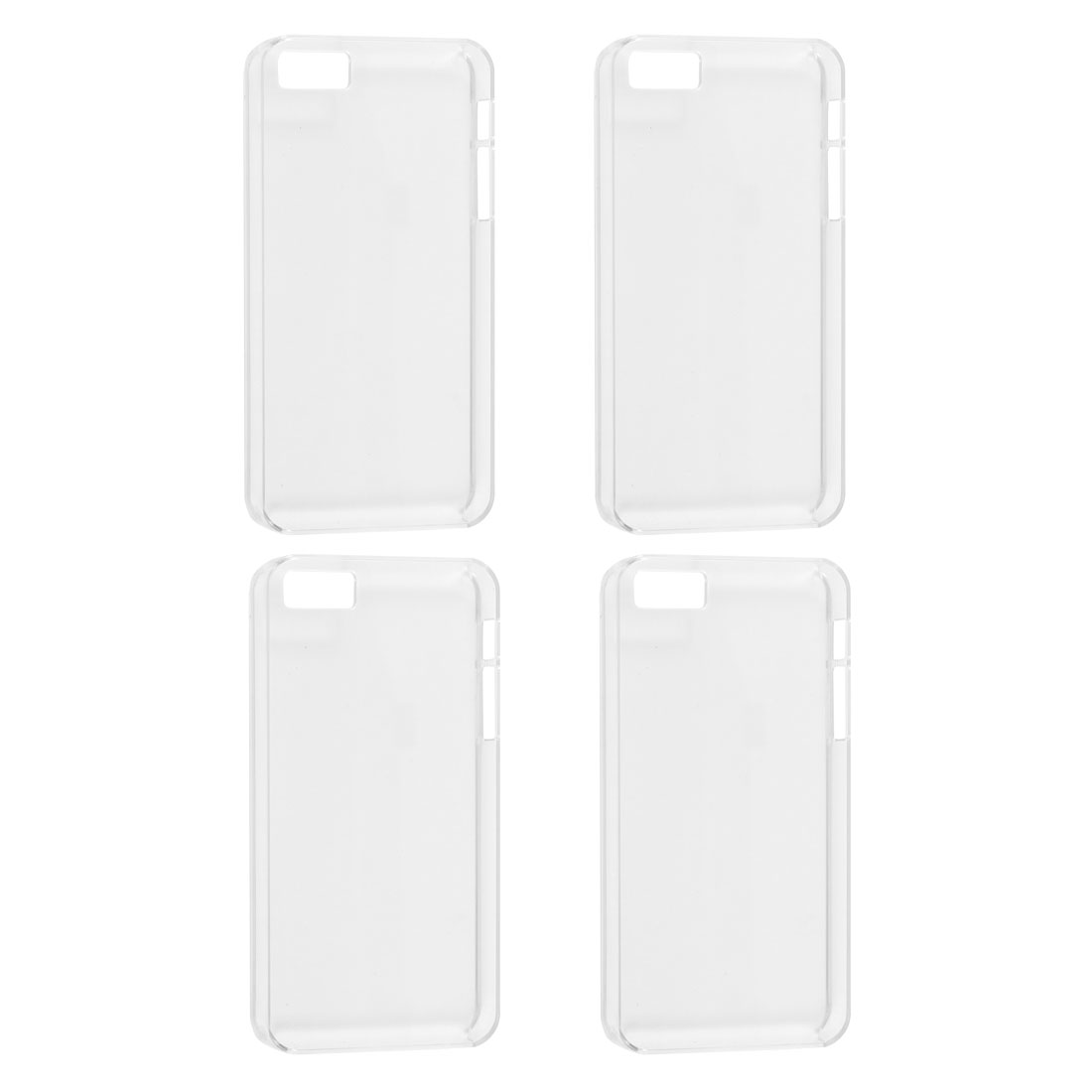 4 Pcs Clear Plastic Protector Shell Back Case Cover for iPhone 5 5G 5S