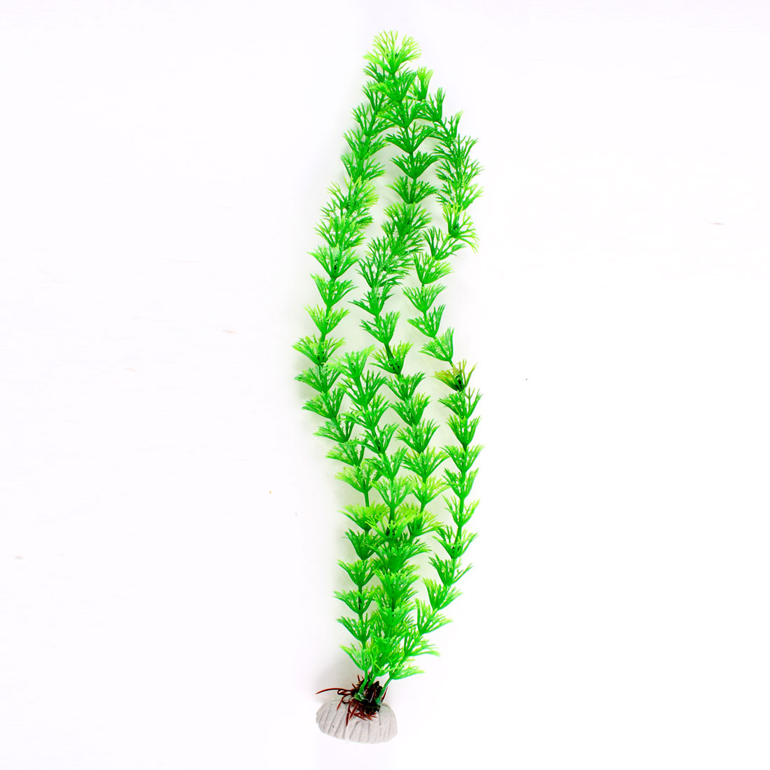 """Aquarium Fish Tank Artificial Plastic Aquatic Plant Ornament Green 14.5"""" Height"""