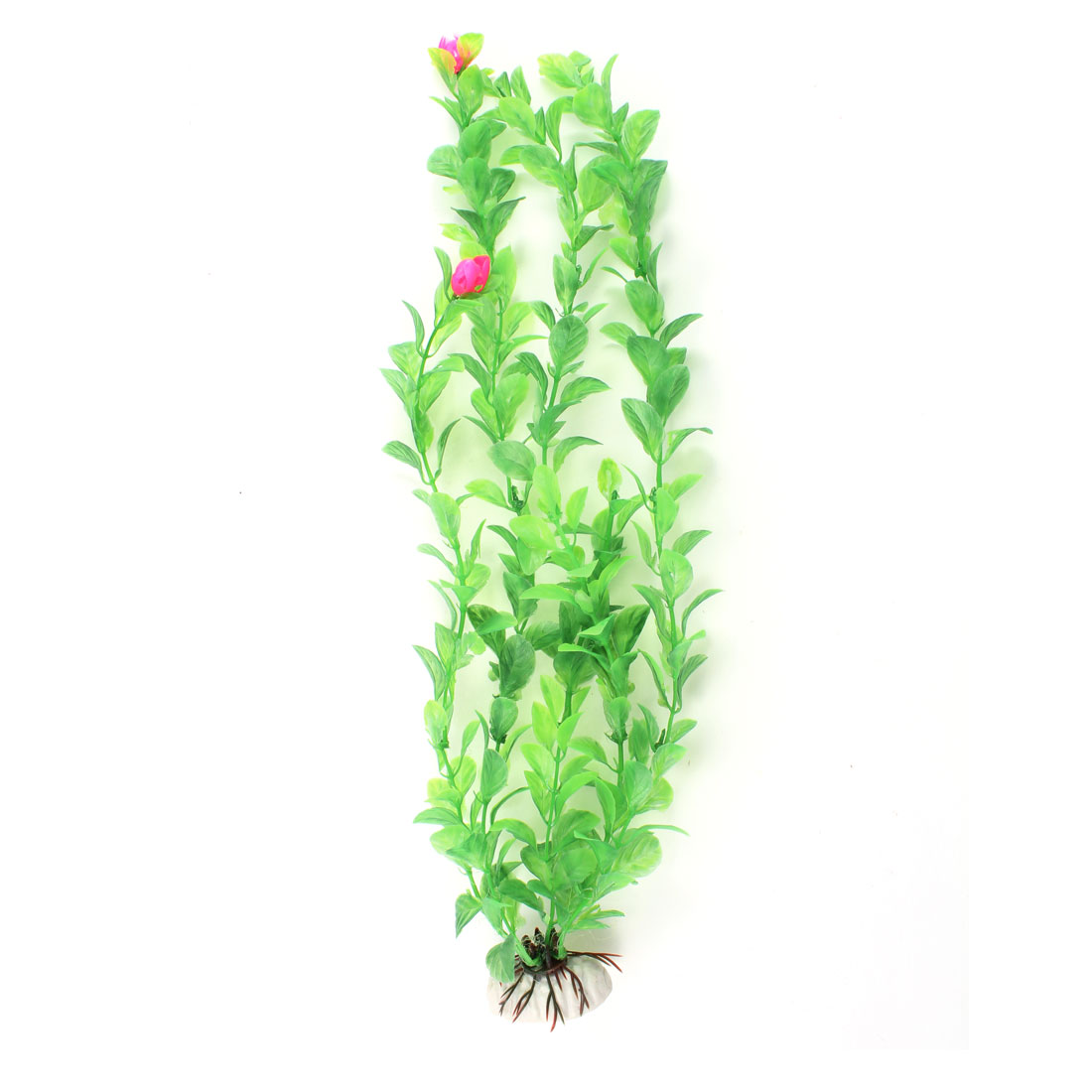 "13.3"" High Manmade Plastic Water Flower Grass Aquarium Decoration Green Magenta"