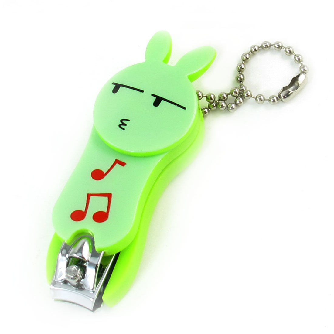 Yellow Green Pale Green Plastic Cartoon Rabbit Toe Cutter Nail Clipper Manicure