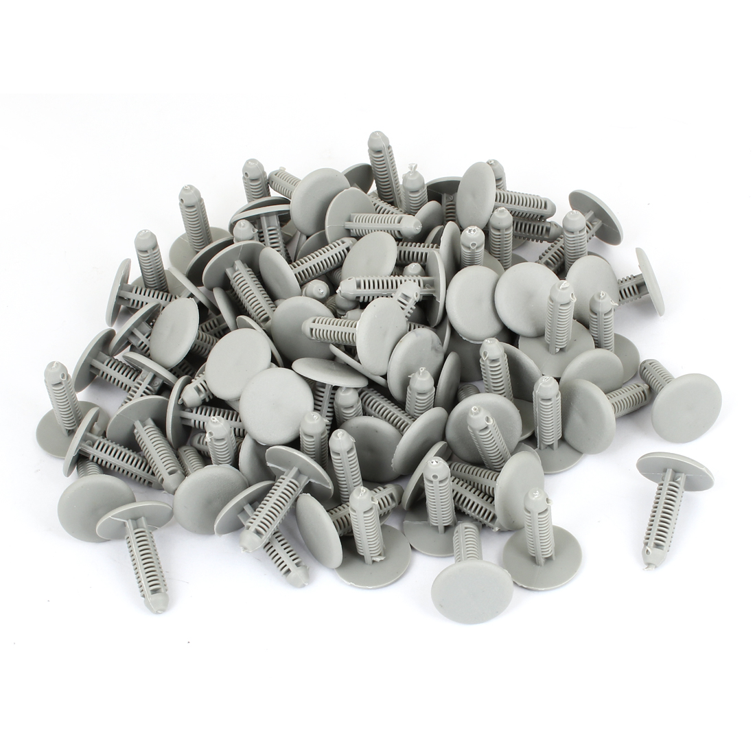 100 Pcs Vehicle 6mm Hole Gray Door Plastic Replacement Rivets Fastener