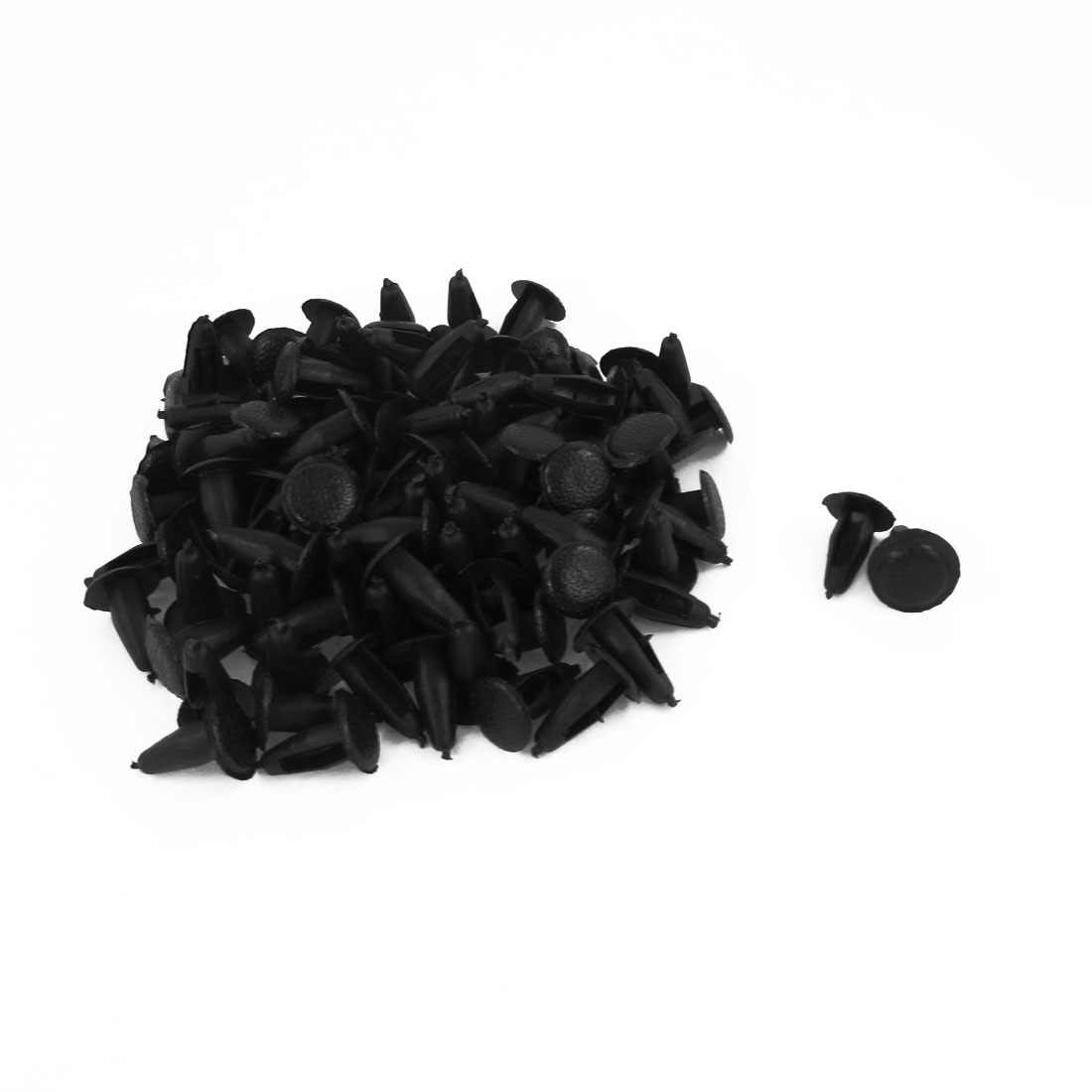 Vehicle Plastic Fastener Rivet Clips 12mm Dia Head Black 100pcs