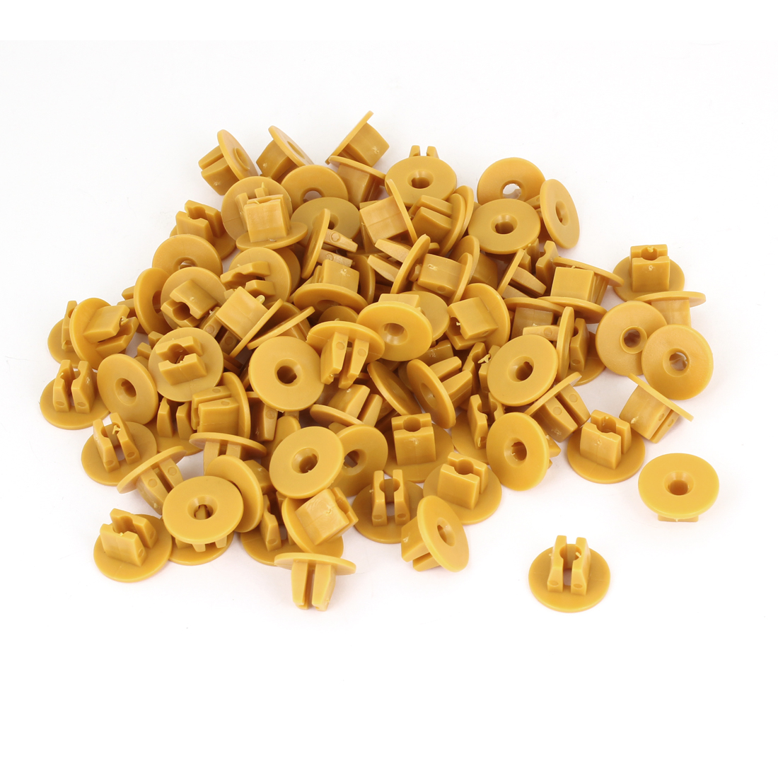 100 Pcs Vehicle 9mm Hole Yellow Door Plastic Replacement Rivets Fastener