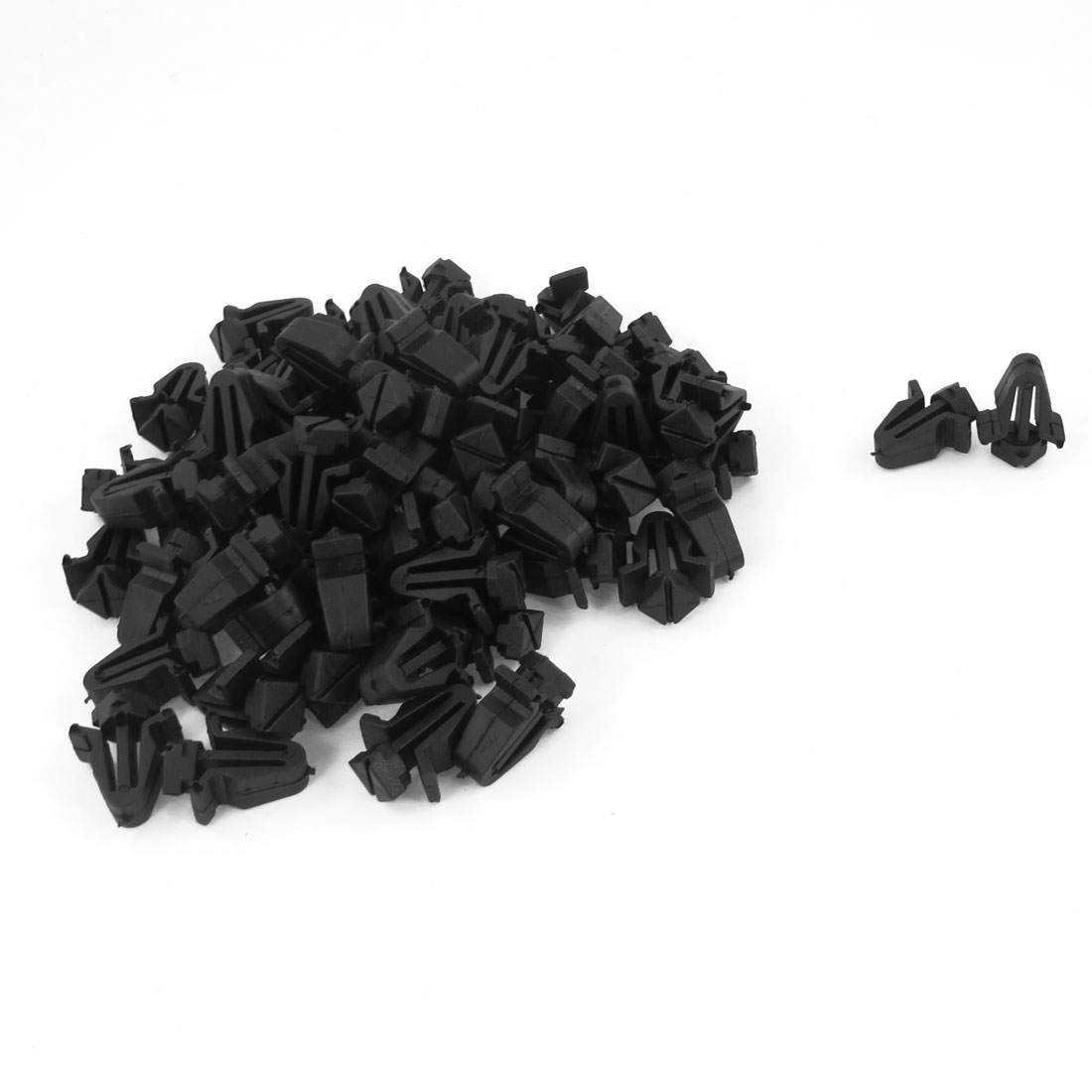 100 Pcs Black Plastic Rivets Fastener Push in Clips Clamps for Cars