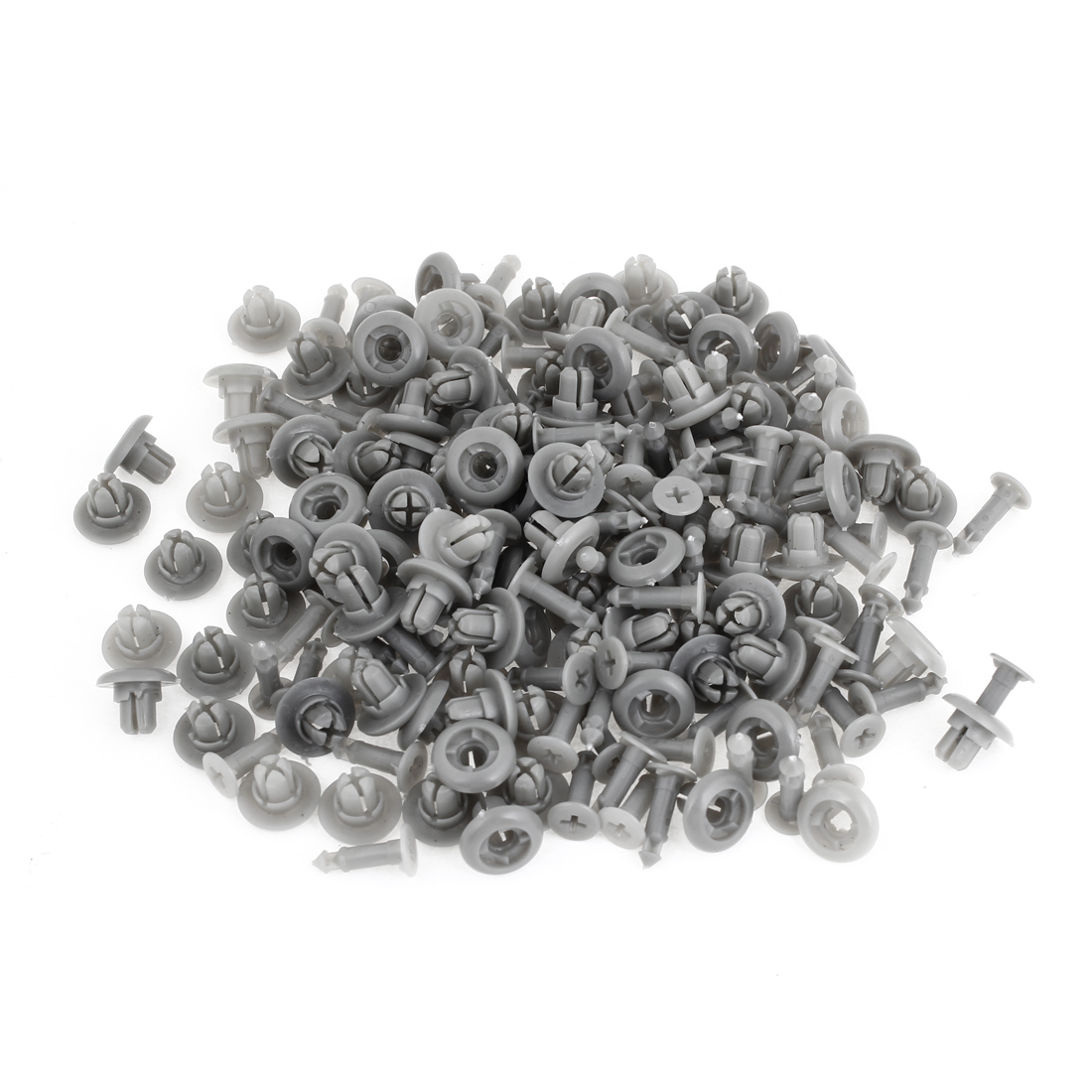 100 x Van Truck 8.4mm Hole Gray Door Plastic Replacement Rivets Fastener