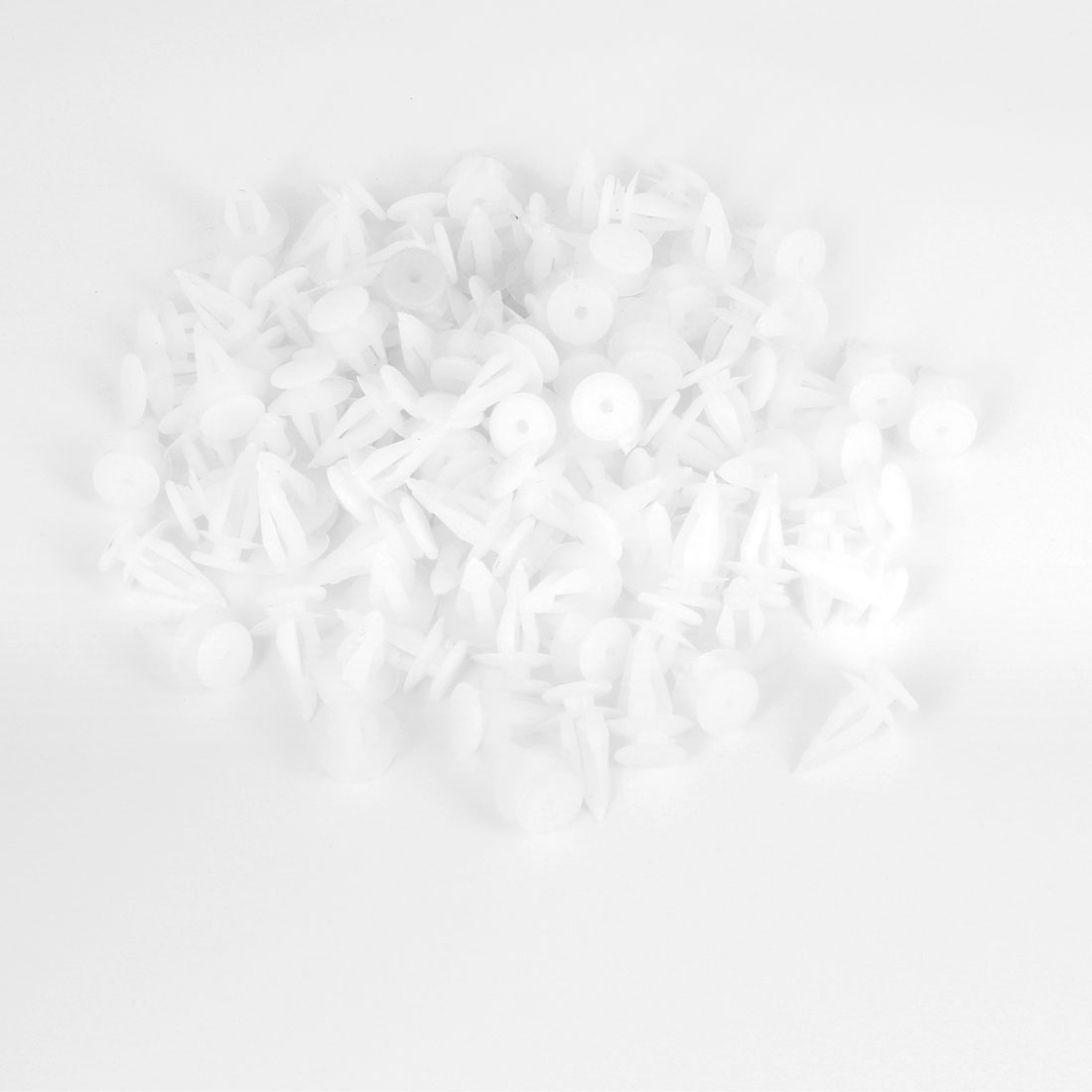 100 x Van Truck 7.4mm Hole White Door Plastic Replacement Rivets Fastener