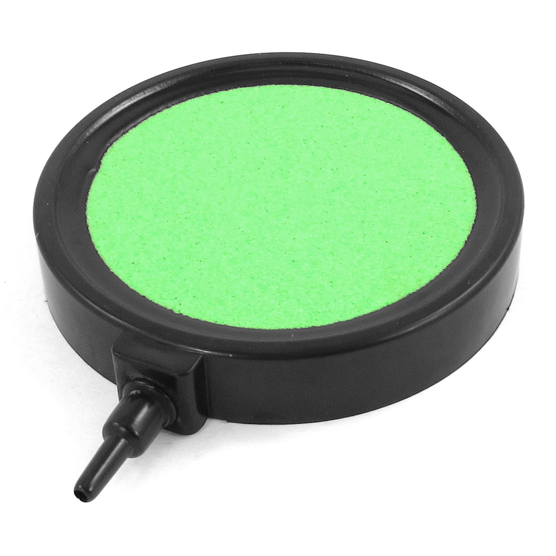 "Fish Tank Round Plate Shape Green Air Stone 0.2"" Port Diameter"